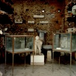 Artifact storage area, Pompeii. Plaster cast of a victim.