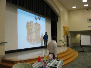 At our most recent school talk.