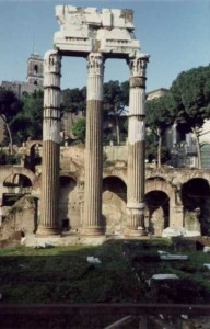 My first working vacation, though I didn't know it until years after. Temple of Castor and Pollux, Rome, Italy.