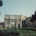 Travel in Rome, Italy; The Arch of Constantine