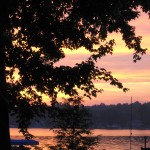 Sunrise, Lake George, Indiana/Michigan. All my summers since age five were spent here.