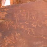 Petroglyphs in the Valley of Fire. Near Las Vegas, Nevada.